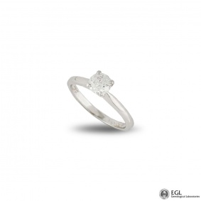 Round Brilliant Cut Diamond Ring in Platinum 0.52ct D/IF